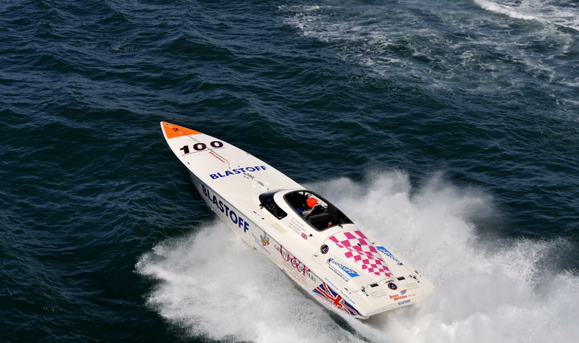 Blastoff Racing during the 2008 Round Britain Powerboat Race – Photo: Chris Davies